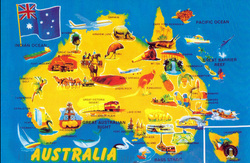 Map Of Australia Natural Features.Mapping Australia And It S Neighbours Year 3 Geography Web Quest
